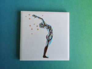 Sakura Sun Salutation tile mountain pose backbend