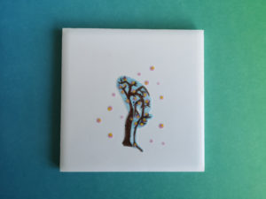 Sakura Sun Salutation tile forward fold