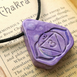 Brow Third Eye Chakra Ceramic Handmade Pendant