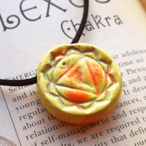 Unique handmade ceramics and pottery Solar Plexus Chakra Ceramic Handmade Pendant